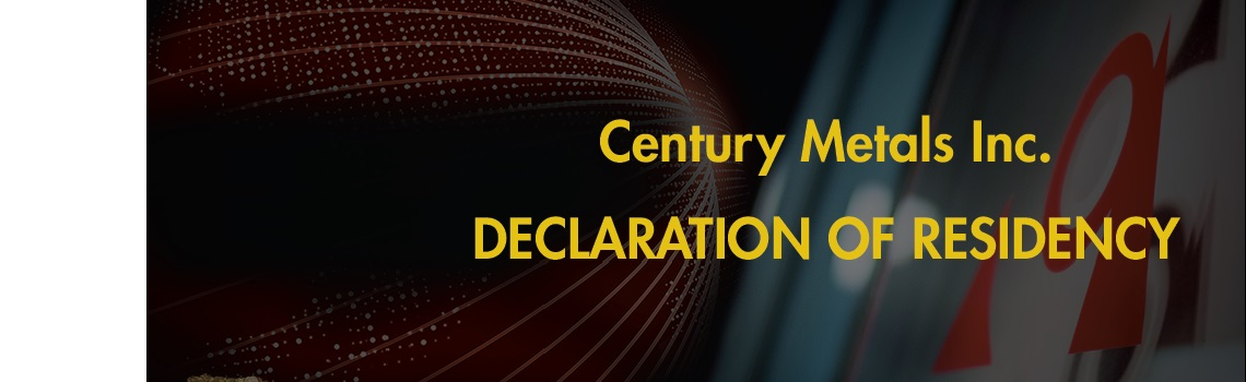 Declaration of Residency